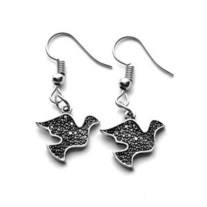 Jewelry - 🔳Mix&Match SALES Handmade Sparkly Dove Earrings